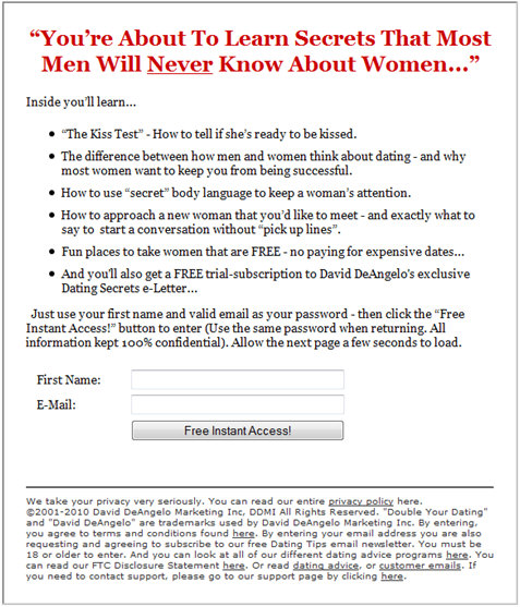 Free dating email list